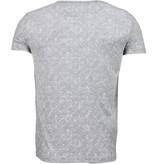 Black Number Browse Motif Summer - T-Shirt - Grey