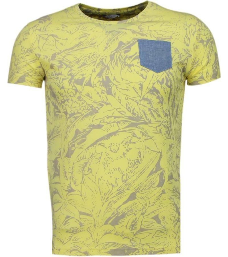Black Number Forrest Motive - T-Shirt - Yellow