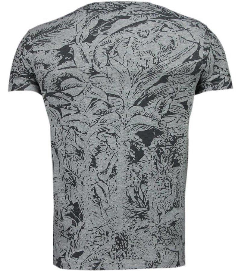 Black Number Forrest Motive - T-Shirt - Grey/Black