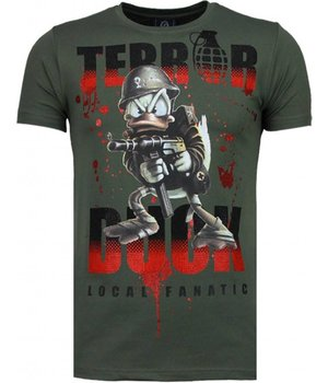 Local Fanatic Terror Duck - Rhinestone T-shirt - Green