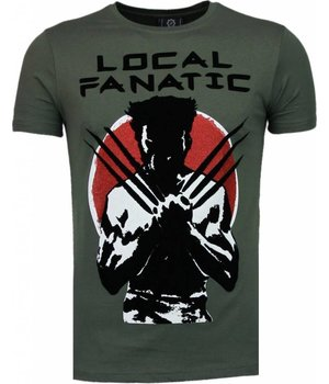 Local Fanatic Wolverine - Flockprint T-shirt - Green