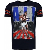 Local Fanatic Muhammad Ali - Rhinestone T-shirt - Black