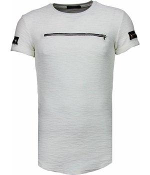 John H Exclusief Zipped Chest - T-Shirt - White