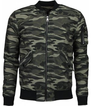 John H Exclusive Bomber Jacket - Military Jack - Green
