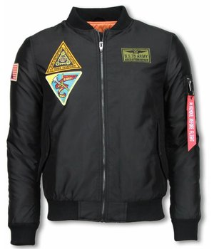 Enos Casual Jacket - Exclusive Street Jack - U.S. ARMY - Black