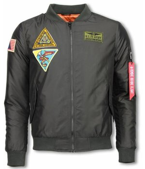Enos Casual Jacket - Exclusive Street Jack - U.S. ARMY - Green