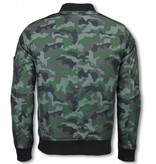 Belman Casual Jacket - Camouflage Pattern With 3 Zippers - Green