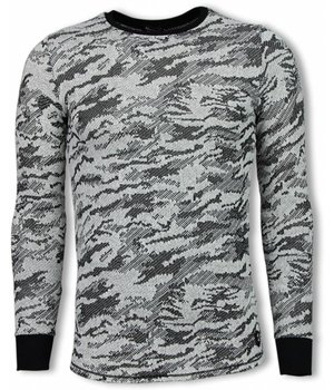 Uniplay Army Look Shirt - Long Fit Sweater - Black