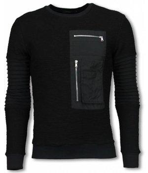 John H Ribbel Arm met Kevlar Pocket - Sweater - Black