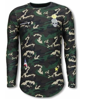 Berry Denim King of Army Shirt - Long Fit Sweater - Camouflage