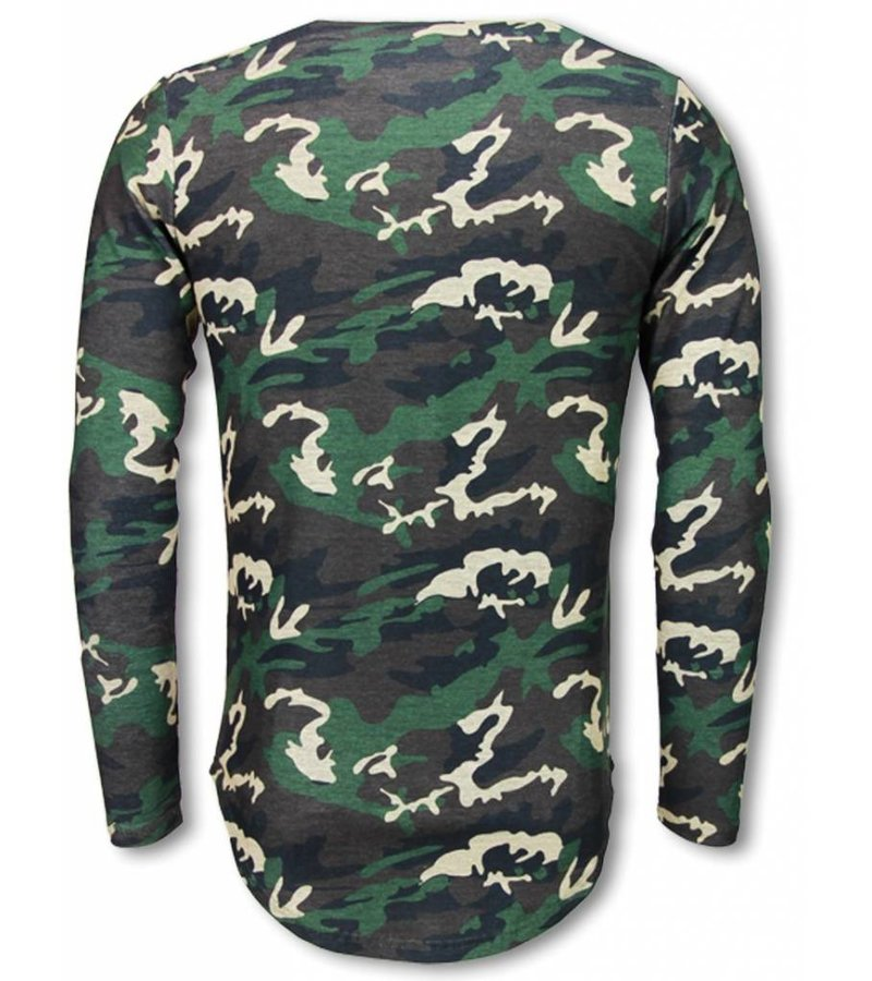 Berry Denim King of Army Shirt- Long Fit Sweater - Camouflage