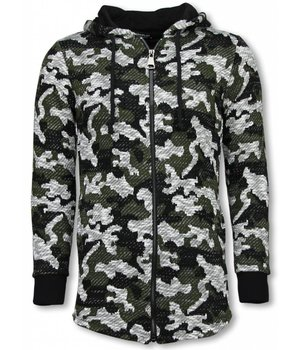 Uniplay Army Vest Camouflage - Long Fit Sweater - Green