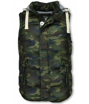 Yole Bodywarmer - Hooded Camouflage - Green