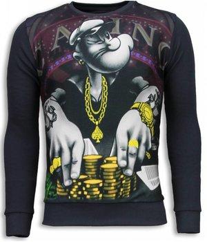 Local Fanatic Casino Popeye - Sweater - Dark Grey