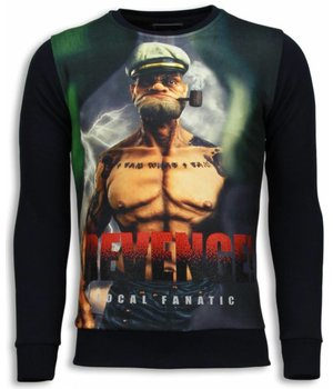 Local Fanatic Popeye Revenge - Sweater - Black