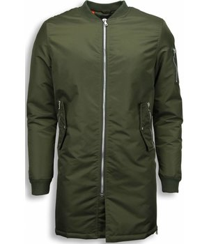 STEGOL Winter Coats - Men Winter Biker Jacket Parka - Urban Bomber Jack - Green
