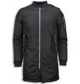 STEGOL Winter Coats - Men Winter Biker Jacket Parka -  Urban Bomber Jack - Black
