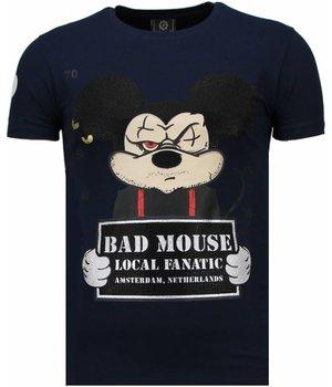Local Fanatic State Prison - Rhinestone T-shirt - Navy
