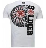 Local Fanatic The Rock - Rhinestone T-shirt - White