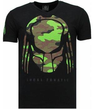 Local Fanatic Predator - Rhinestone T-shirt - Black