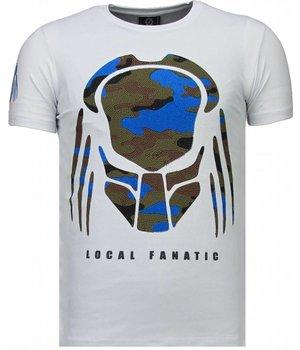 Local Fanatic Predator - Rhinestone T-shirt - White