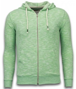 Enos Casual Hoodie - Melange Zen Fleece - Green