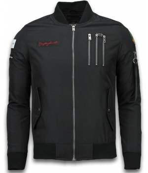 David Copper Bomber Jacket - Eagle Attack Jack - Black