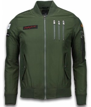 David Copper Bomber Jacket - Eagle Attack Jack - Green