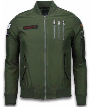 David Copper Bomber Jacket - Eagle Attack Jack - Green
