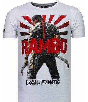 Local Fanatic Rambo Shine - Rhinestone T-shirt - White