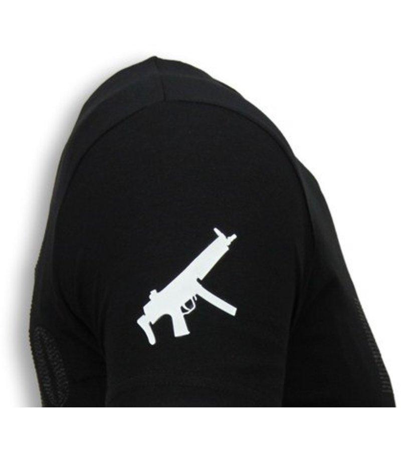 Local Fanatic Pablo Escobar Narcos - Rhinestone T-shirt - Black