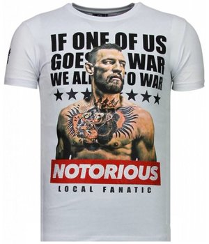 Local Fanatic Conor McGregor - Rhinestone T-shirt - White