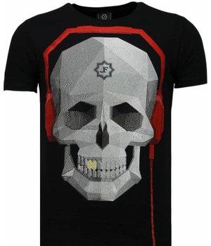 Local Fanatic Skull Bring The Beat - Rhinestone T-shirt - Black