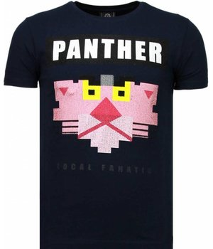 Local Fanatic Panther For A Cougar - Rhinestone T-shirt - Blue