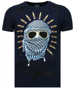 Local Fanatic Freedom Fighter - Rhinestone T-shirt - Blue