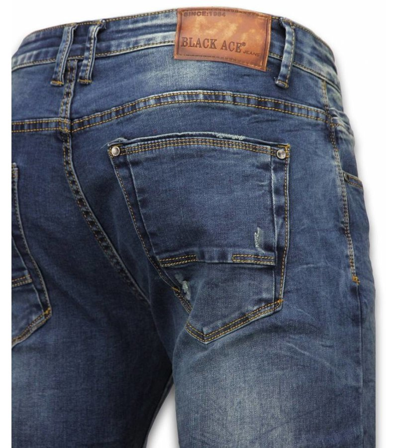 Black Ace Exclusive Jeans - Slim Fit Regular Jeans - Blue