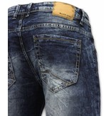 Black Ace Exclusive Jeans - Slim Fit Washed Look Jeans - Blue