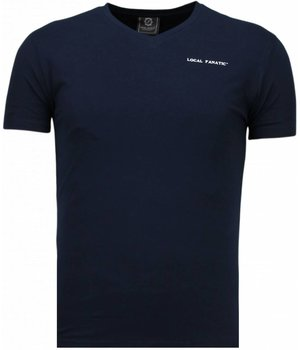 Local Fanatic Basic Exclusieve V Neck - T-Shirt - Bue