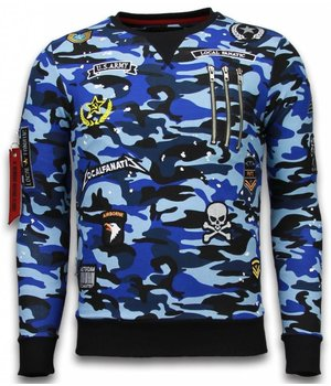 Local Fanatic Exclusief Camo Embroidery - Sweater Patches - Blue