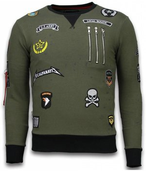 Local Fanatic Exclusief Basic Embroidery - Sweater Patches - Green