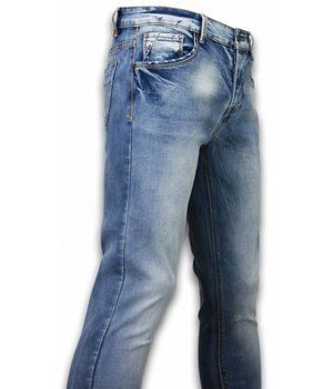 Black Ace Basic Jeans - Stone Washed Regular Fit - Blue