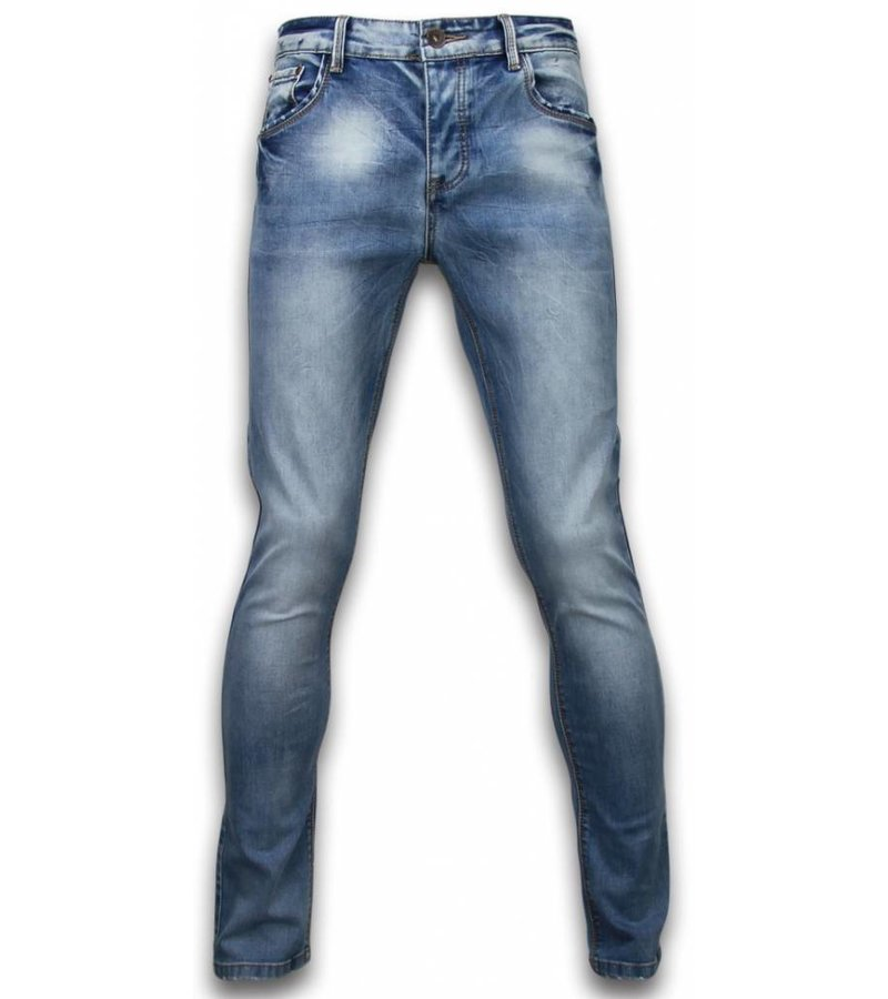 Black Ace Basic Jeans - Stone Washed Regular Fit - Blue
