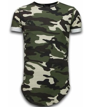 Uniplay Known Camouflage T-shirt - Long Fit Shirt Army - Green