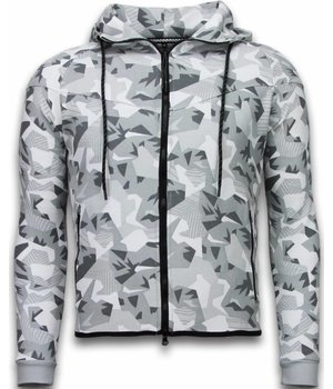 CABAN Exclusive Tracksuit - Windrunner Camouflage - White