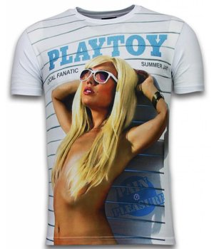 Local Fanatic Playtoy Summer Jam - Digital Rhinestone T-shirt - White