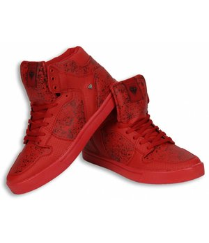 Cash Money Men Shoes -  Sneaker High - Tough Red Black