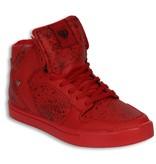 Cash Money Men Shoes -  Sneaker High - Tough Red Black