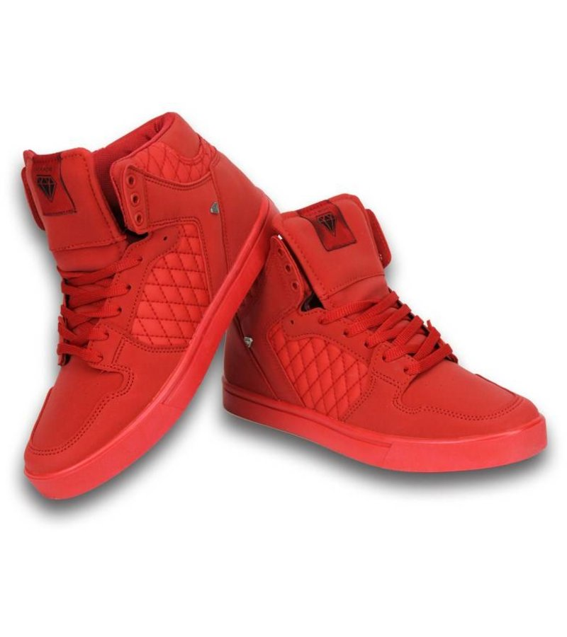 Cash Money Men Shoes -  Sneaker High - Red