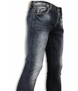 Black Ace Basic Jeans - Blue Stone Washed Regular Fit - Blue