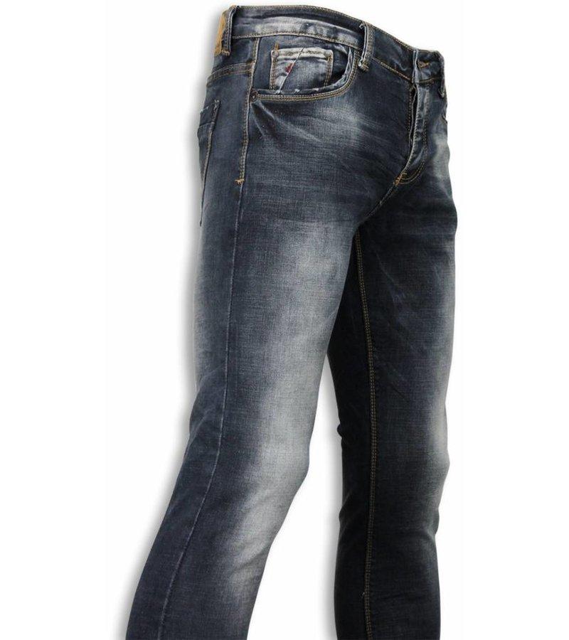Black Ace Basic Jeans - Blue Stone Washed Regular Fit - Blue